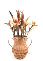 Basket Resembling Vase Of Flowers