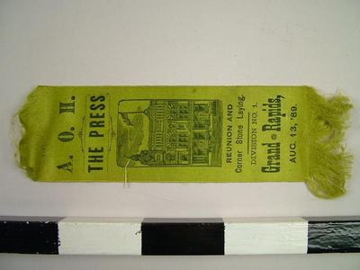Souvenir Ribbon, Ancient Order Of Hibernians
