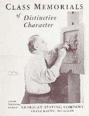 Brochure, American Seating Company Woodcarving Studios, Class Memorials of Distinctive Character