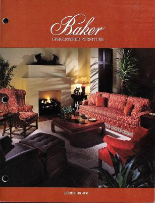 Trade Catalog, Baker Upholstered Furniture, Series 400-800