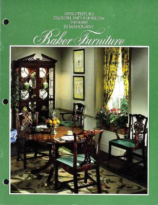 Trade Catalog, Baker Furniture Company, 18th Century English and American Designs in Mahogany