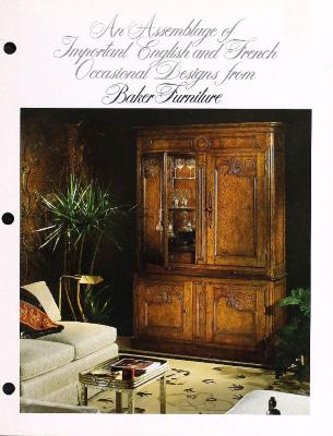 Trade Catalog, Baker Furniture Company, An Assemblage of Important English and French Occasional Designs