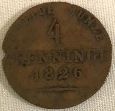 Coin, 4 Pfennig