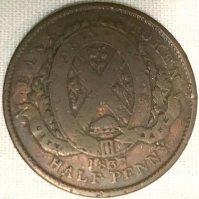Canada Bank Token, Half Penny