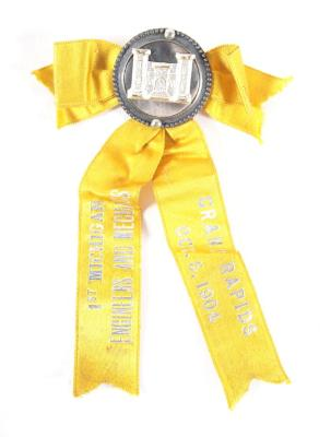 Ribbon Badge, 1st Michigan Engineers and Mechanics