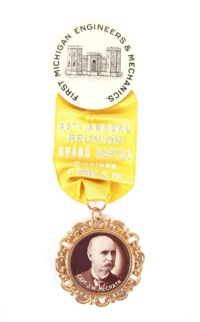 Ribbon Badge, First Michigan Engineers & Mechanics