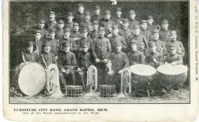 Postcard, Furniture City Band, Grand Rapids