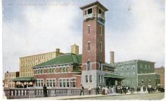 Postcard, Grand Trunk Depot