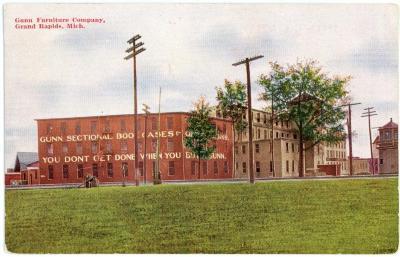 Postcard, Gunn Furniture Company, Grand Rapids, Michigan