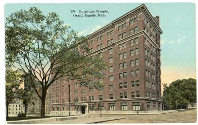 Postcard, Furniture Temple Building