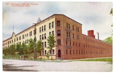 Postcard, Michigan Chair Company Factory