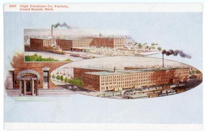 Postcard, Sligh Furniture Company Factory