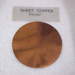 Polished Sheet Copper Disk