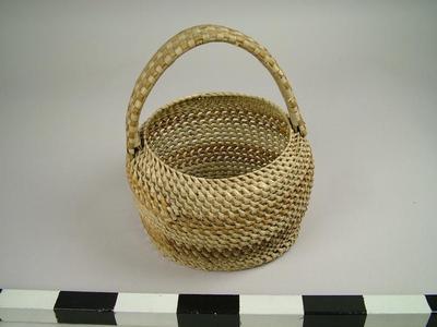 Basket, Coiled Pandanus Leaf