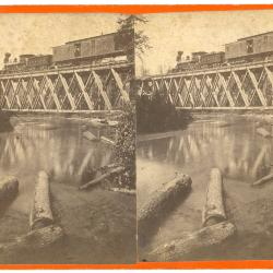 Stereoview, Grand Rapids and Indiana Railroad Steam Locomotive