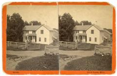 Stereoview, Ball Farm House in Grand Rapids, Mich.
