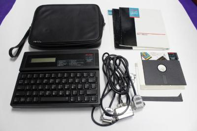 Portable Computer, 'laser Pc3,' With Carrying Case And Manual
