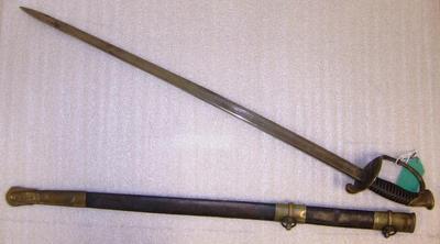 Sword, Model U.S. 1850 Regulation Foot Officer's And Scabbard