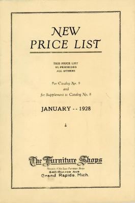Price List, The Furniture Shops, Catalog No. 8