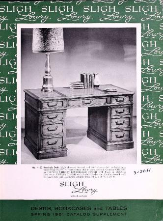 Grand Rapids Public Museum Collections : Artifact : Trade Catalog  Supplement, Sligh Lowry Furniture Company [2016.1.42]