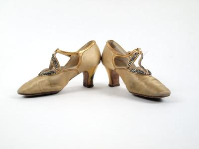 Gold Heels With Jewel Accents: I Miller & Yager's Bootery