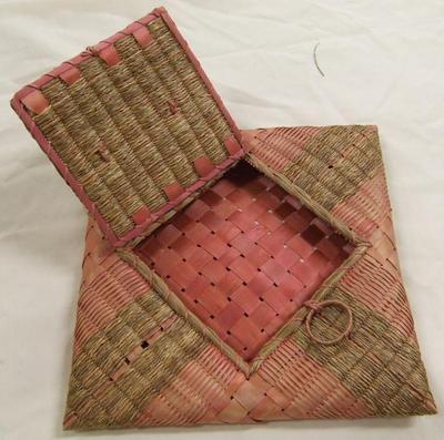 Splint Basket Or Handkerchief Case