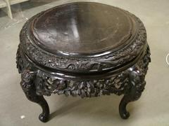 Carved Teakwood Table