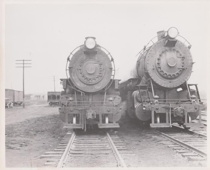 Photograph, Railroad Engines #5131 and #9855, Possibly Pennsylvania Railroad