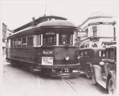 Photograph, Electric Streetcar, Wealthy Street Route
