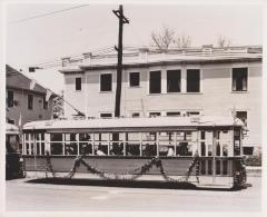 "Photograph, Electric Streetcar, ""William G. Herpolsheimer"""
