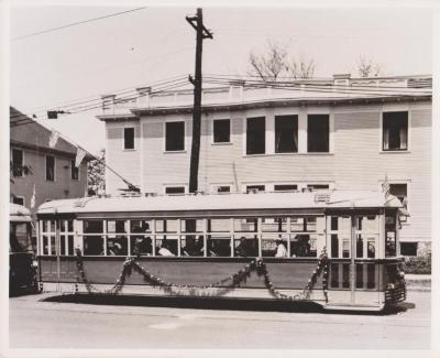 "Photograph, Electric Streetcar, ""William G. Herpolsheimer"""