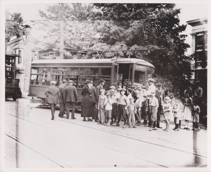 Photograph, Electric Streetcar, Cherry-Ramona Route