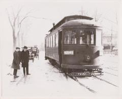Photograph, Electric Streetcar, Scribner Avenue Route