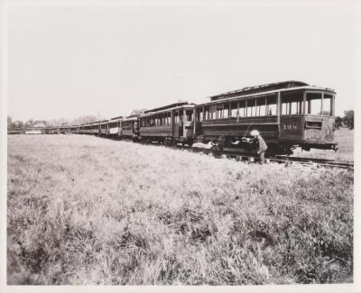 Photograph, Railway, Probably Interurban West Michigan Train