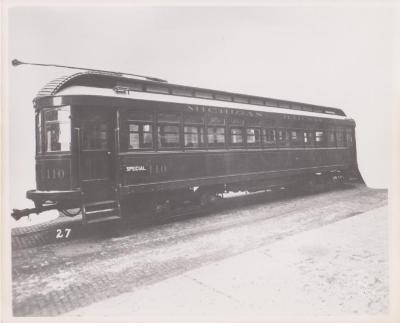 Photograph, Electric Streetcar, Michigan Railway
