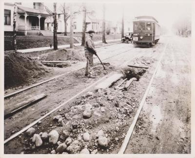 Photograph, Electric Streetcar, Lafayette and Stocking Route