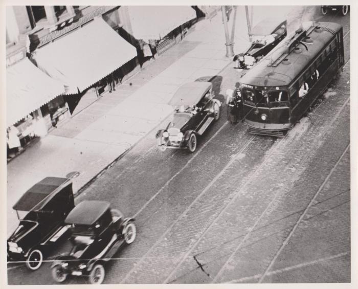 Photograph, Street Scene along Cherry-Ramona Streetcar Line