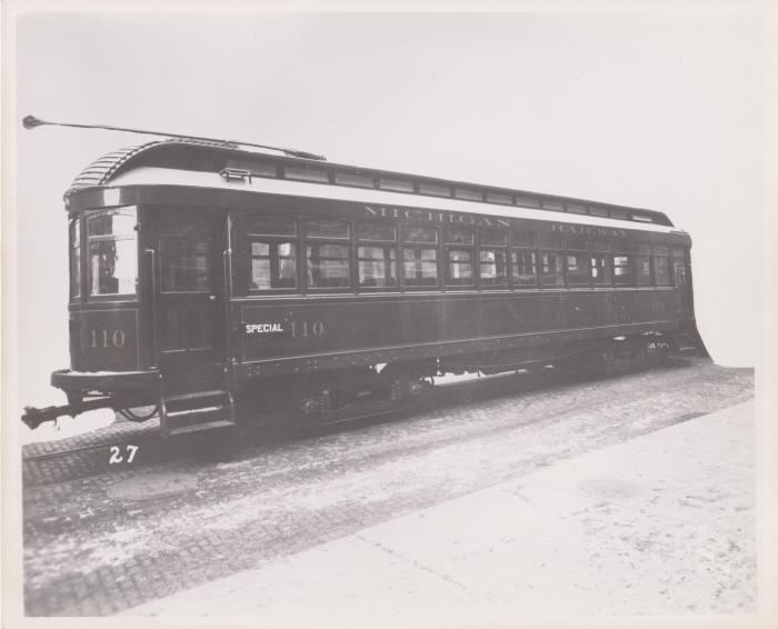 Photograph, Electric Streetcar, Michigan Railway