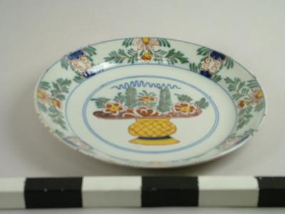 Plate, Decorative Delftware