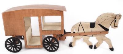 Model, Milk Wagon And Horse
