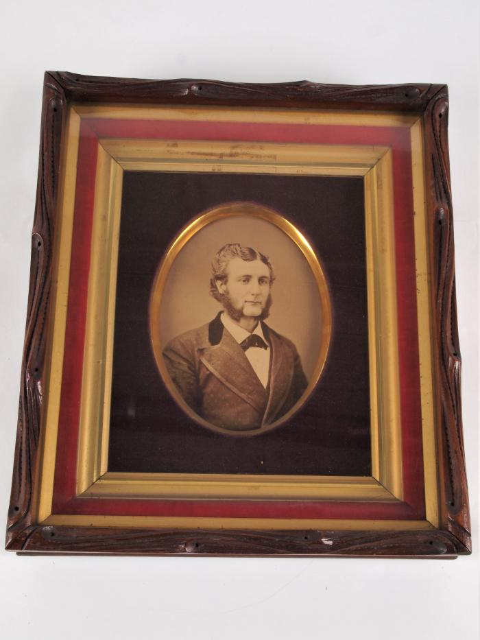 Framed Photograph of Charles Henry Ray (1856-1881)