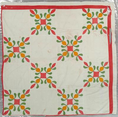 Quilt Top, Appilqued, Pineapple Pattern