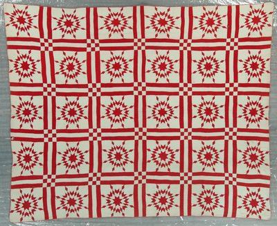 Pieced Quilt, Virginia Star Variation