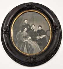 Print, Steel Engraving, Abraham Lincoln And Family
