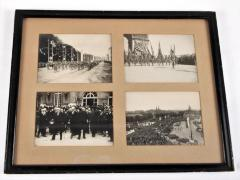 Four Photographs, Woodrow Wilson and American Soldiers Marching in Victory Parade, Paris 1919