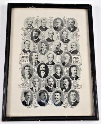 Halftone Photograph, Common Council Of Grand Rapids, Mi, 1902-1903