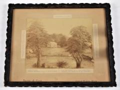Photograph of a Drawing of The First Frame House Erected In Grand Rapids, 1833