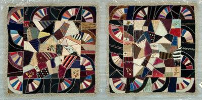 Couch Or Table Cover,(2), Crazy Quilt
