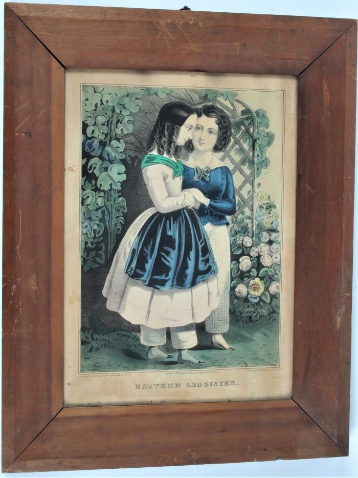 Hand-colored Lithograph, Brother And Sister, by E B. and E.C. Kellogg