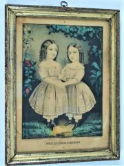Hand-colored Lithograph, The Little Sisters, by E B. and E.C. Kellogg